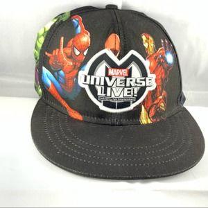Marvel Universe Live SnapBack Hat Authentic Black